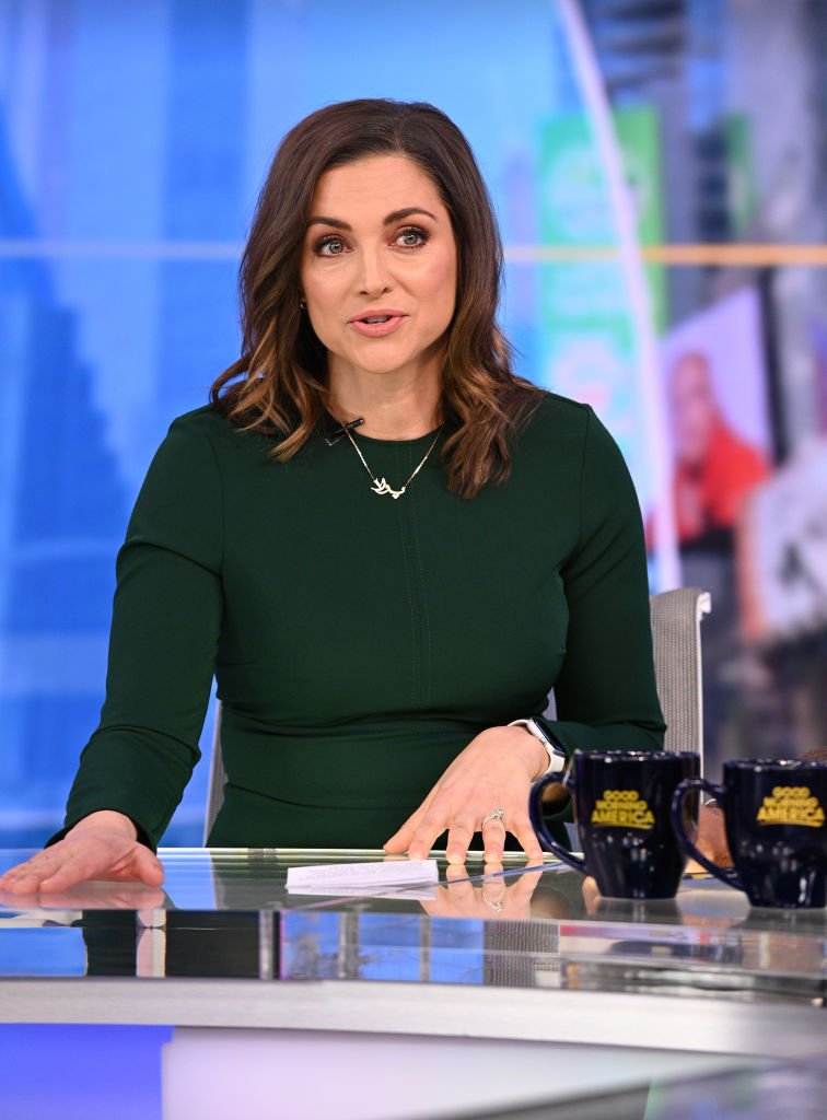 "Paula Faris on the set of ""Good Morning America"" 