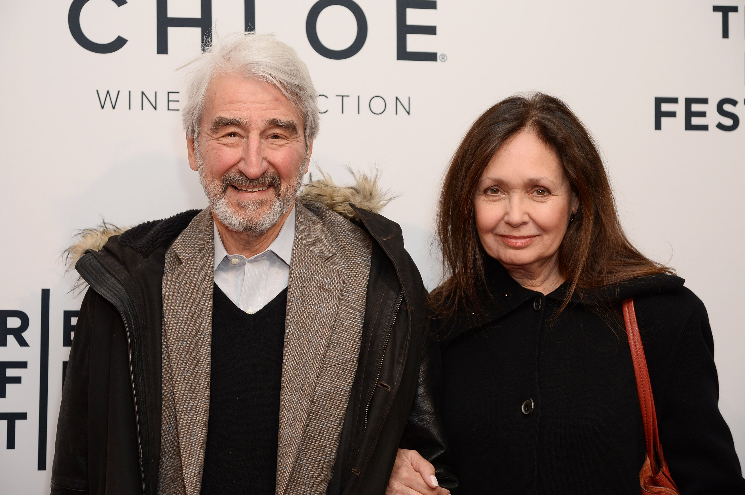"Sam Waterston and Lynn Woodruff attend a screening of ""State Like Sleep"" during the 2018 Tribeca Film Festival. 