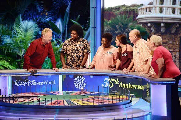 'Wheel of Fortune' host Pat Sajak (L) attends a taping of the Wheel of Fortune's 35th Anniversary Season at Epcot Center at Walt Disney World on October 10, 2017 in Orlando, Florida | Photo: Getty Images