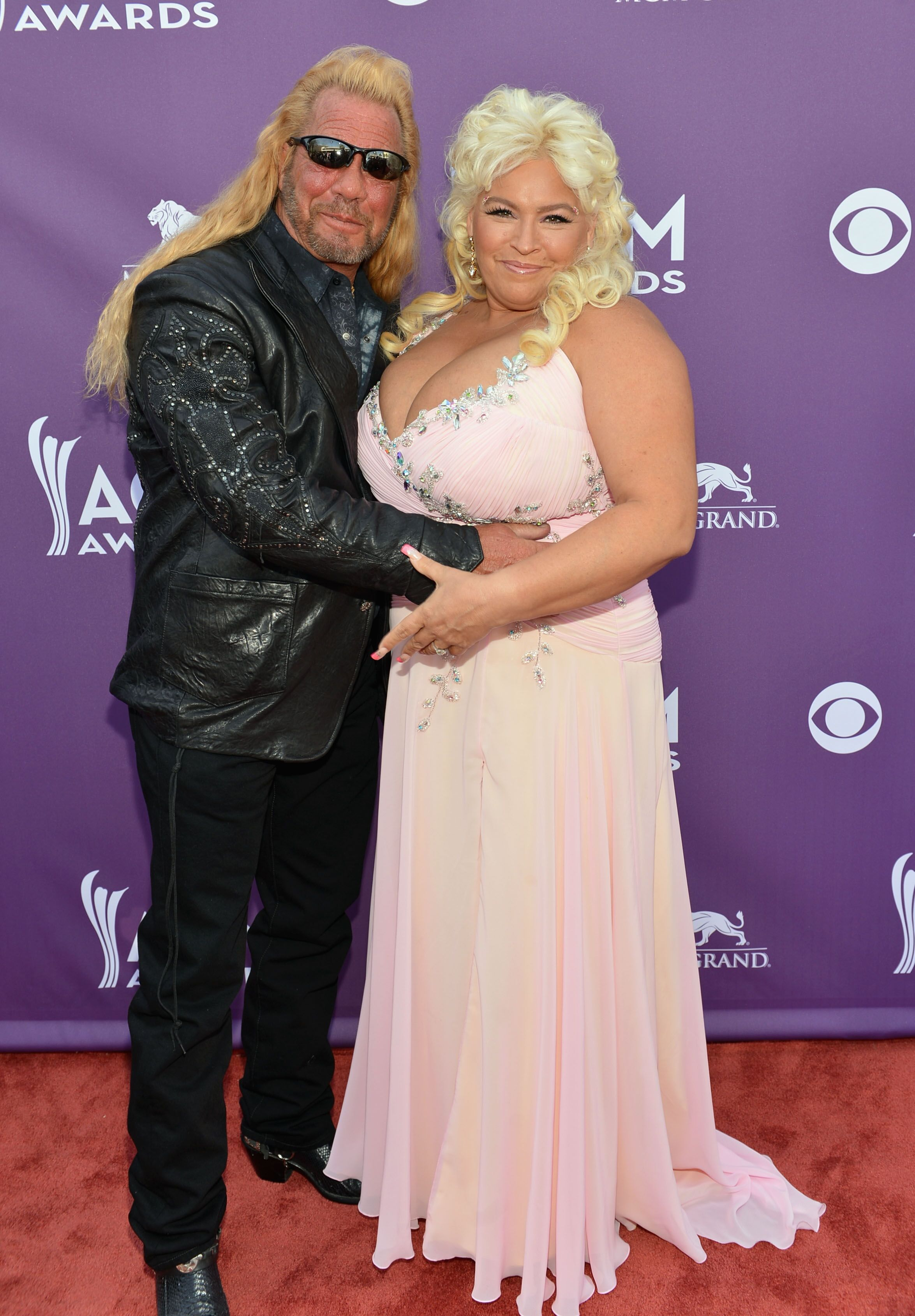 """TV personalities Duane """"Dog"""" Chapman and Beth Smith attend the 48th Annual Academy of Country Music Awards at the MGM Grand Garden Arena on April 7, 2013 in Las Vegas, Nevada 