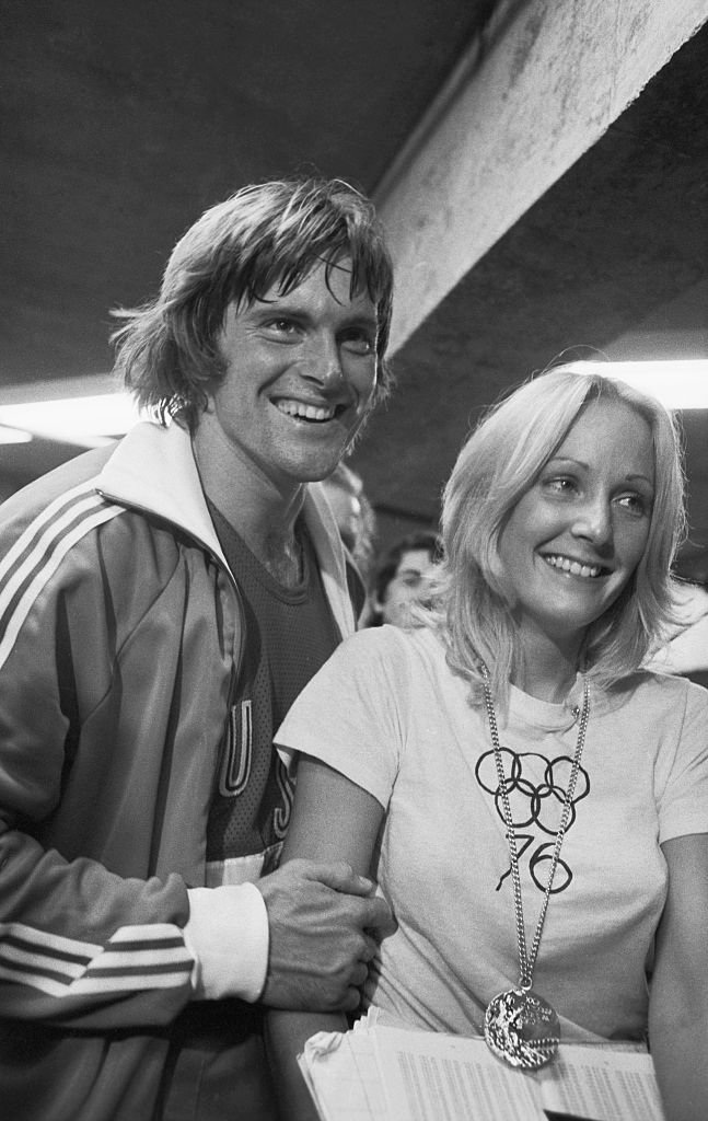 Bruce Jenner and wife Chrystie in the 1976 Summer Olympics in Montreal, Canada | Photo: GettyImages