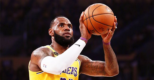 LeBron James of LA Lakers Shows off Athletic Physique during Intense Home Workout Session