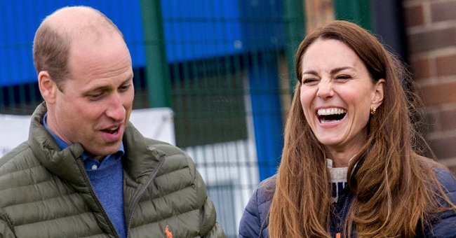 Kate Middleton Tries Her Hand at Archery in a Navy Blue Blouse and Matching Flared Trousers