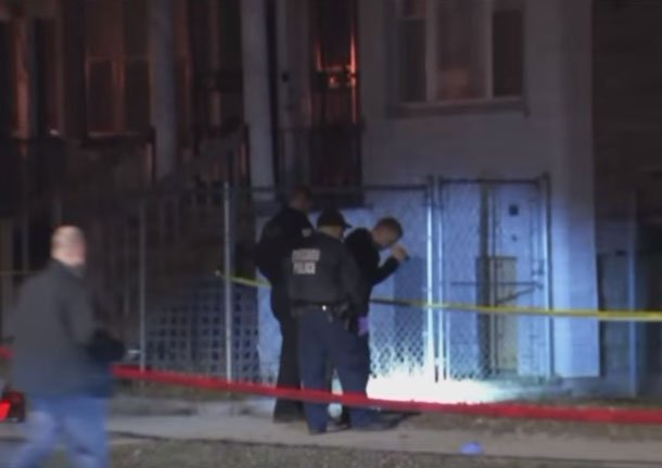 Forensic investigators at the scene/ Source: Youtube/ WGN News