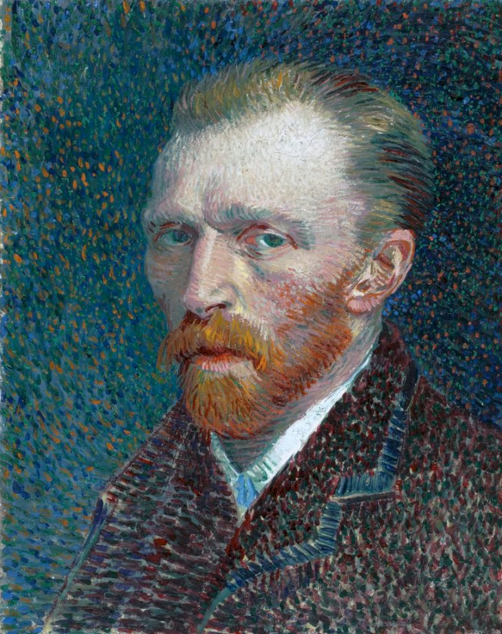 Vincent van Gogh (French, 1853–1890), Self-Portrait, 1887, oil on board, 41 X 32.5 Cm (16.1 X 12.8 in), Art Institute of Chicago. (Photo by VCG Wilson/Corbis via Getty Images)