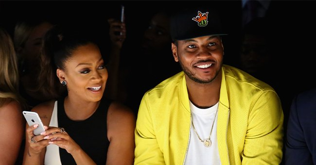 A picture of Carmelo Anthony and La La Anthony smiling together | Photo: Getty Images