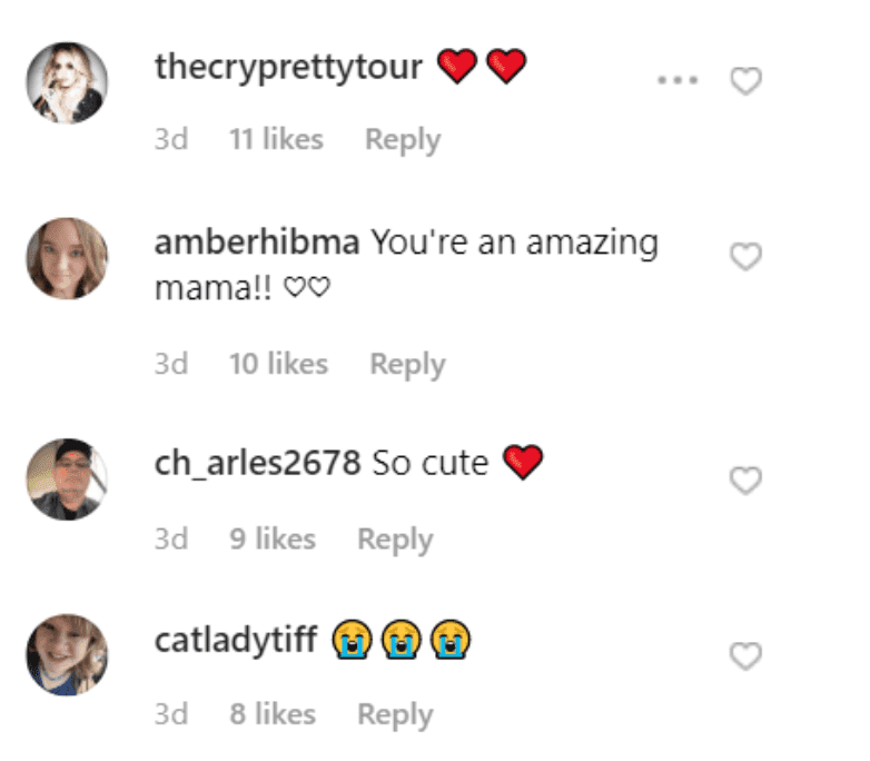 Fan comment on Carrie Underwood's Instagram post. | Source: Instagram/carrieunderwood