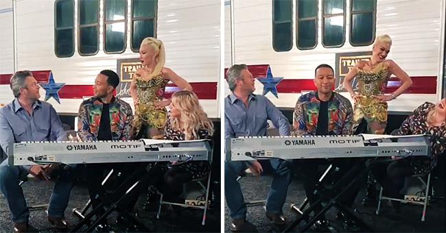 'Voice' Coach John Legend Asks Blake Shelton If He's 'Popped the Question' to Gwen Stefani