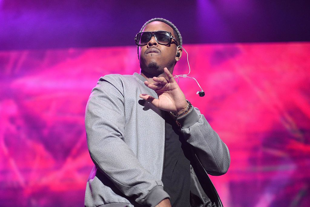 "R&B artist Jeremih performing onstage during REAL 92.3's 'The Real Show"" at The Forum in Inglewood, California 