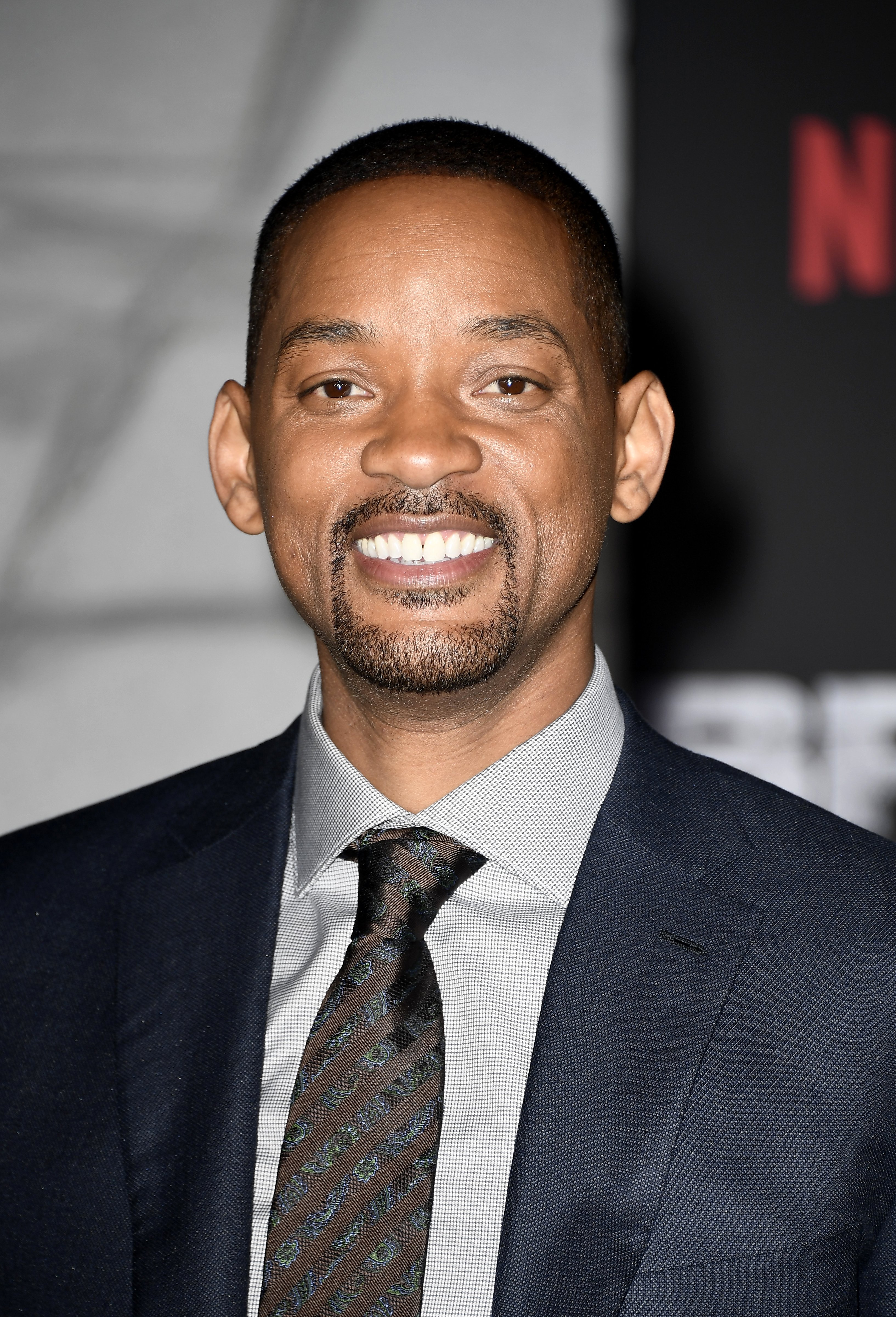 """Will Smith at the Premiere Of """"Bright"""" in Westwood, California on Dec. 13, 2017 
