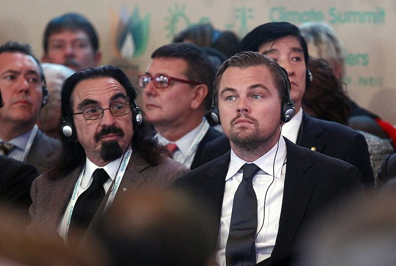 Leonardo DiCaprio and his father George DiCaprio on December 04, 2015 in Paris, France | Photo: Getty Images