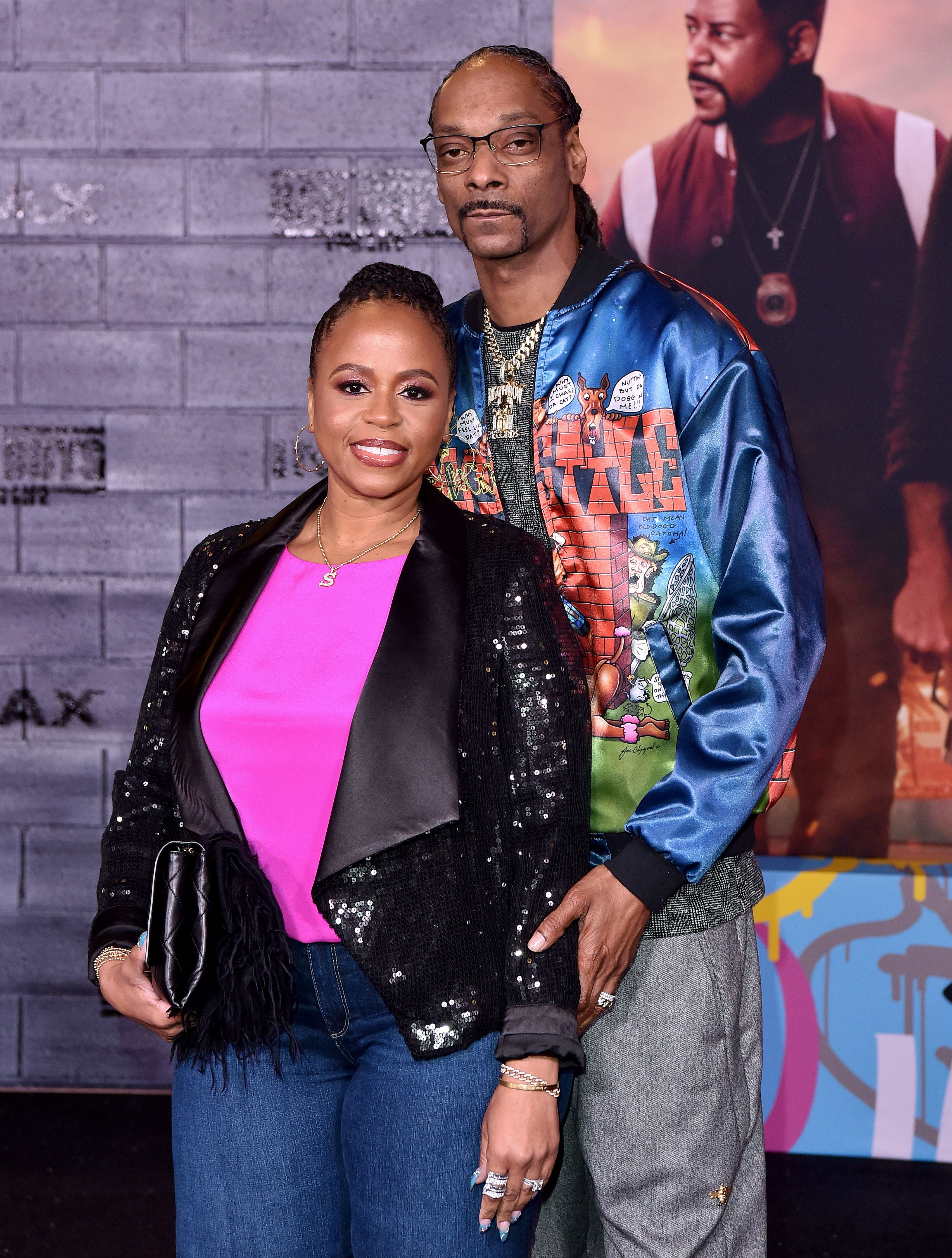 """Shante Broadus and Snoop Dogg during the premiere of Columbia Pictures' """"Bad Boys for Life"""" at TCL Chinese Theatre on January 14, 2020 in Hollywood, California.   Source: Getty Images"""