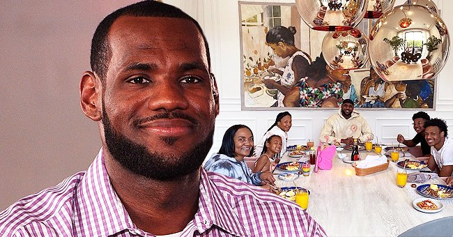 LeBron James Enjoys Mother's Day Brunch with His Wife, Mom & Kids in Photos