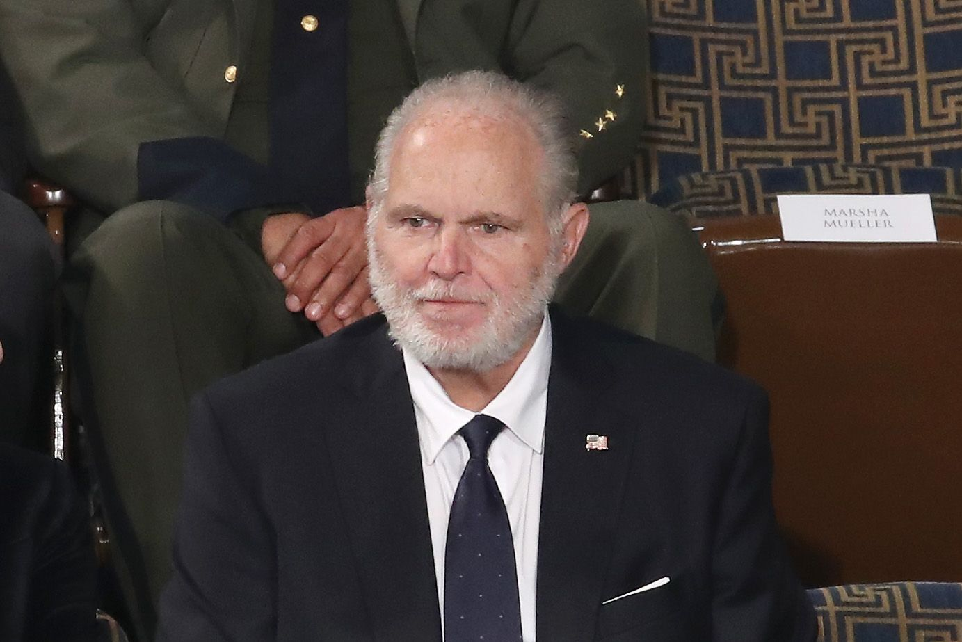 Rush Limbaugh sits in the First Lady's box ahead of the State of the Union address on February 04, 2020 | Getty Images