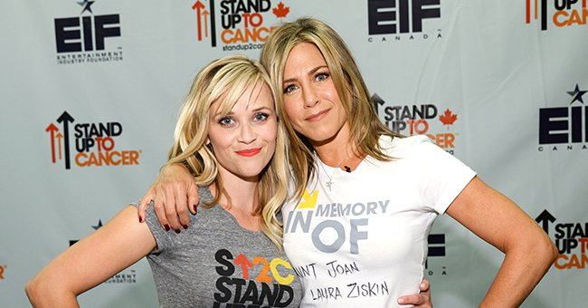 Reese Witherspoon and Jennifer Aniston at Stand Up To Cancer (SU2C) at the Dolby Theatre in Hollywood California | Photo: Kevin Mazur/American Broadcasting Companies Inc via WireImage via Getty Images