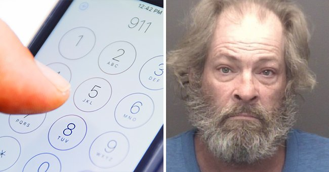 Daniel Schroeder's photo as he was arrested for 911 hotline misuse. | Source: Shutterstock | Twitter.com/nypost