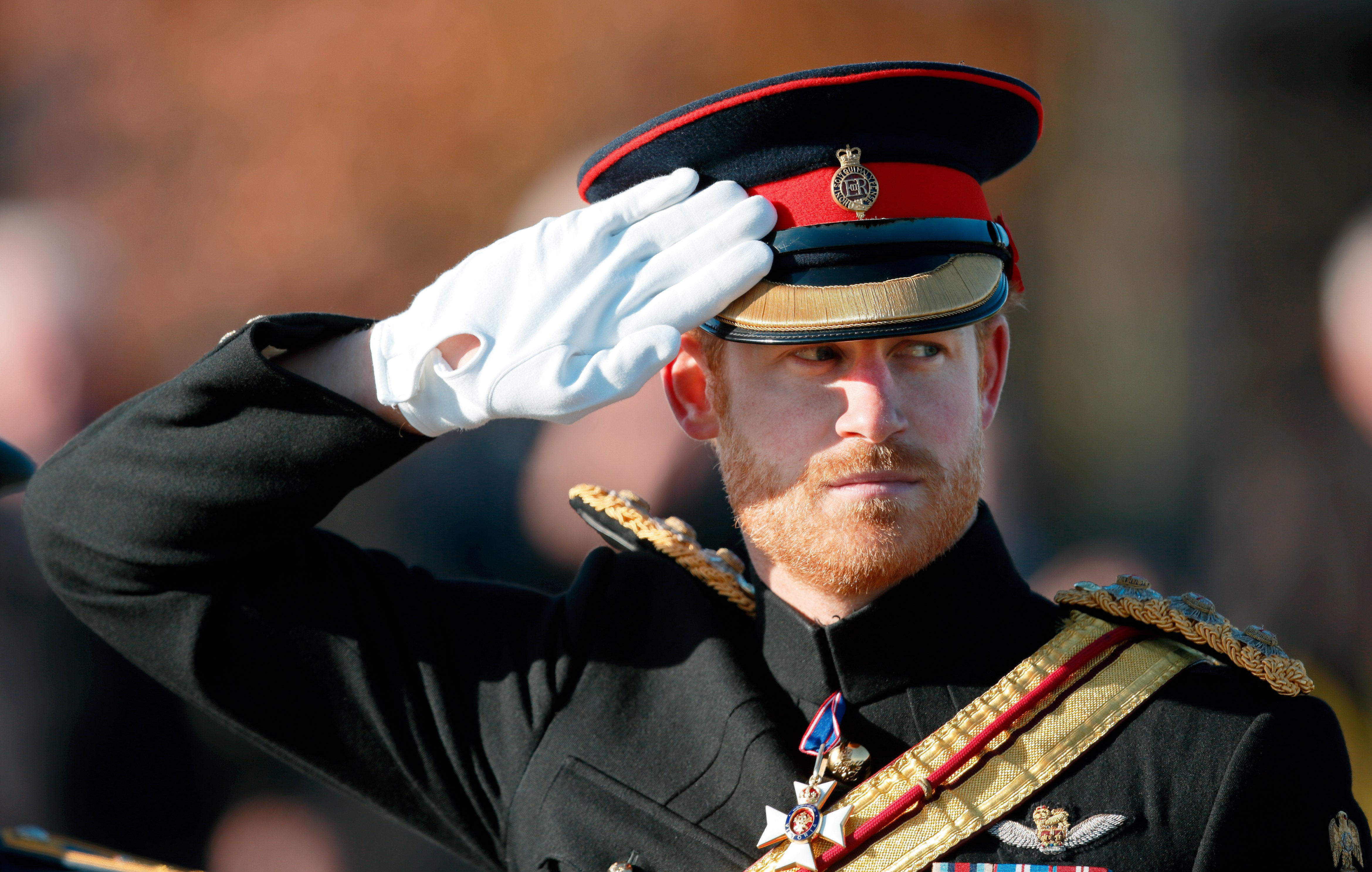 Prince Harry attends the Armistice Day Service at the National Memorial Arboretum on November 11, 2016 in Alrewas, England | Photo: Getty Images