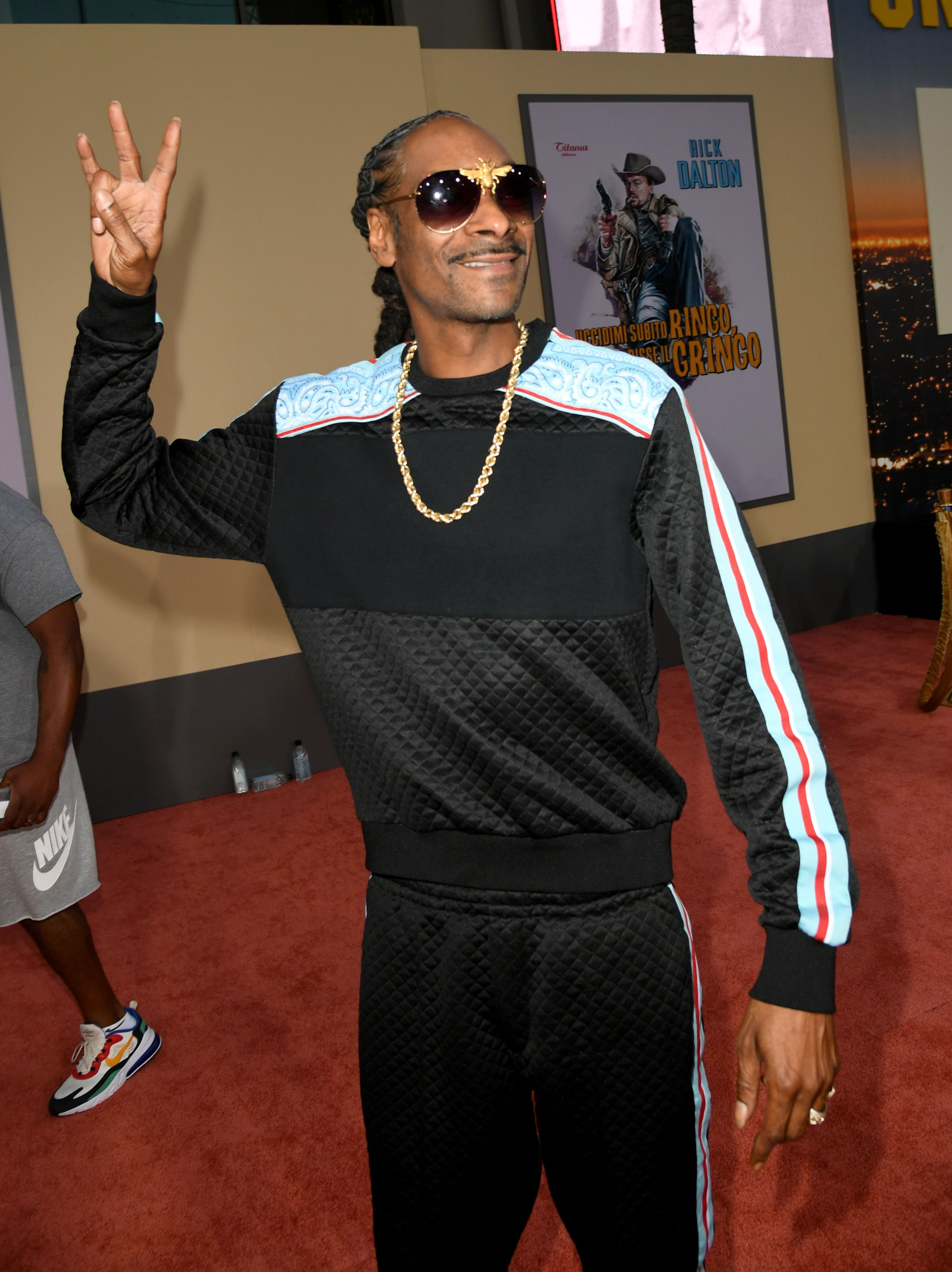"""Snoop Dogg at the premiere of' """"Once Upon A Time...In Hollywood"""" on July 22, 2019 in Hollywood.   Photo: Getty Images"""