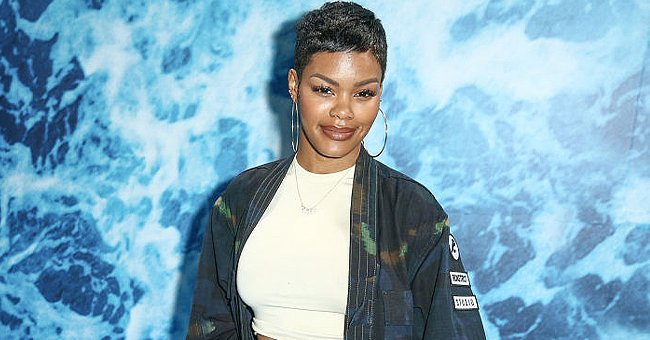 Teyana Taylor Rocks Paisley Print Outfit in an Emerald Tone Launching Her Unisex Collection