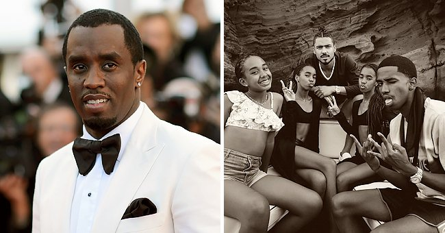 Diddy's 5 Kids Show Their Uncanny Resemblance in a Black & White Family Photo