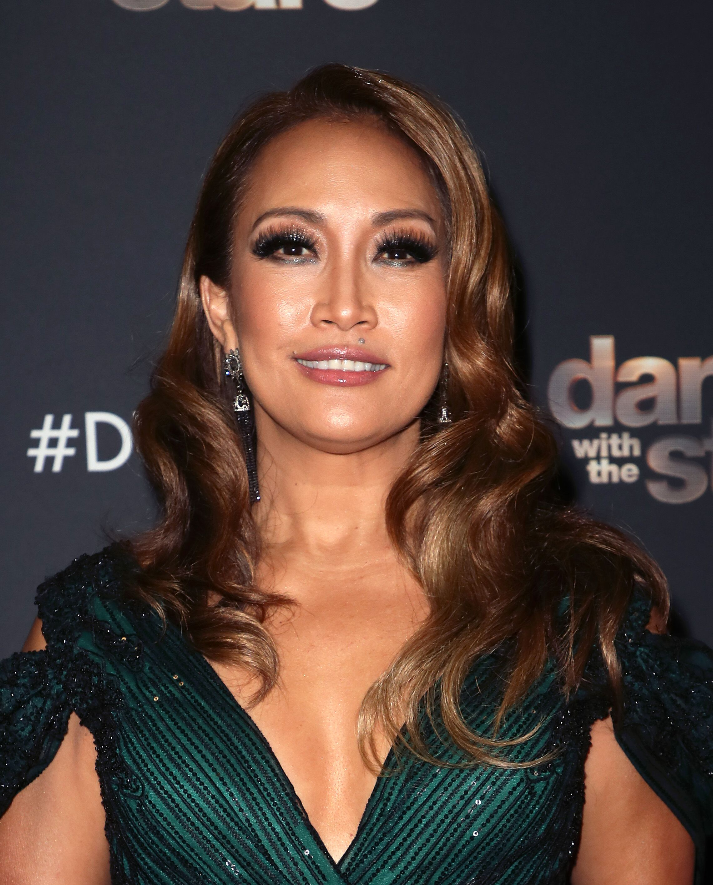 """Carrie Ann Inaba poses at """"Dancing with the Stars"""" Season 28 at CBS Television City on October 14, 2019 in Los Angeles, California 