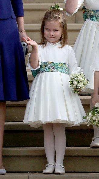 Prinzessin Charlotte, Hochzeit von Prinzessin Eugenie, Windsor, 2018 | Quelle: Getty Images