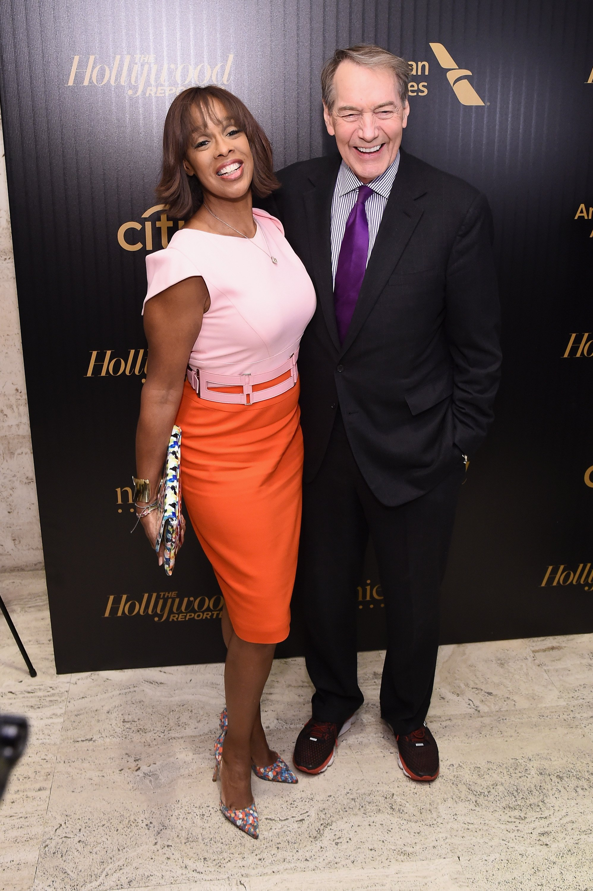 Gayle King and Charlie Rose attend the Hollywood Reporter's 2016 35 Most Powerful People in Media at Four Seasons Restaurant on April 6, 2016. | Photo: GettyImages