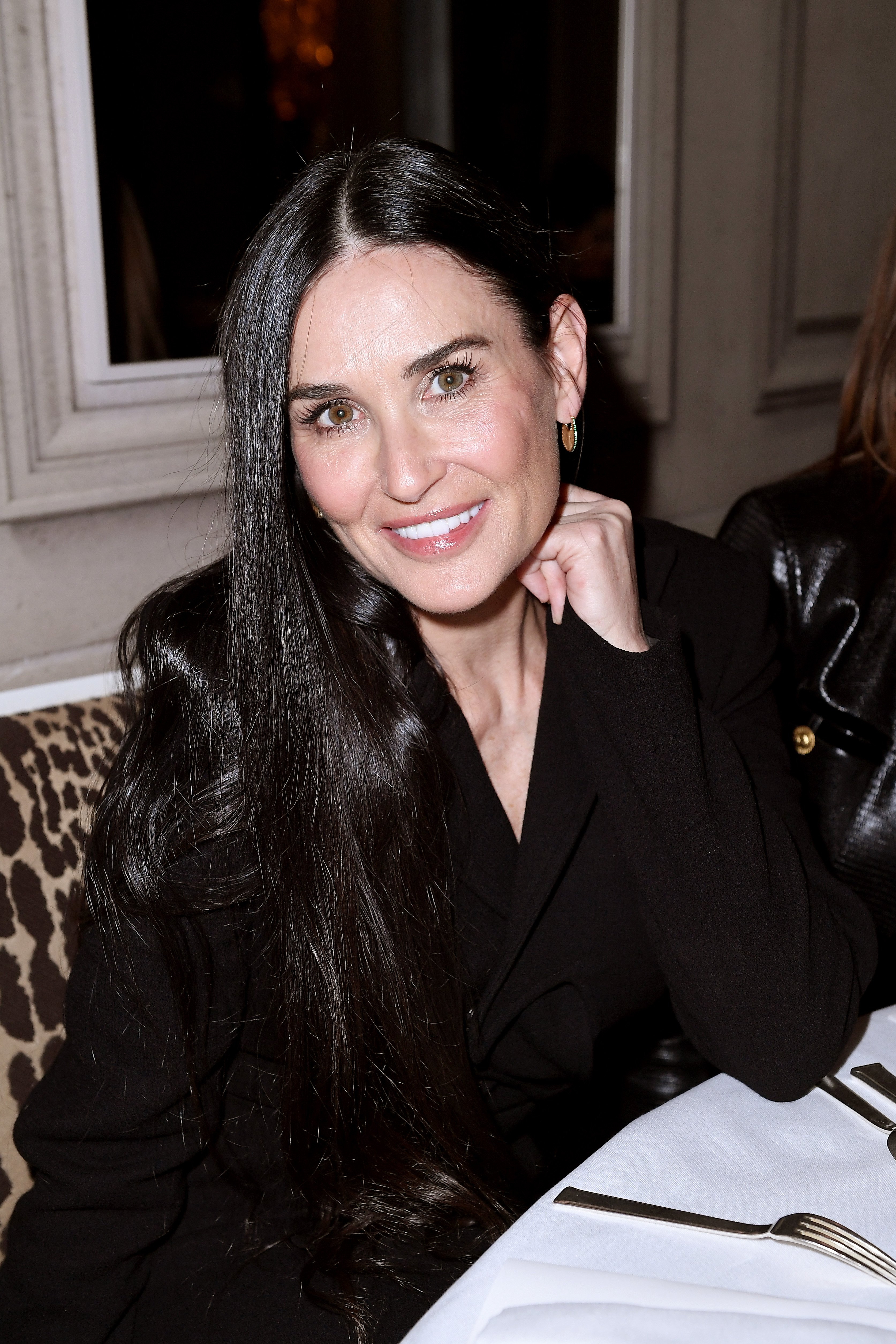 Demi Moore attends the Monot show as part of the Paris Fashion Week Womenswear Fall/Winter 2020/2021 on February 29, 2020 in Paris, France. | Source: Getty Images