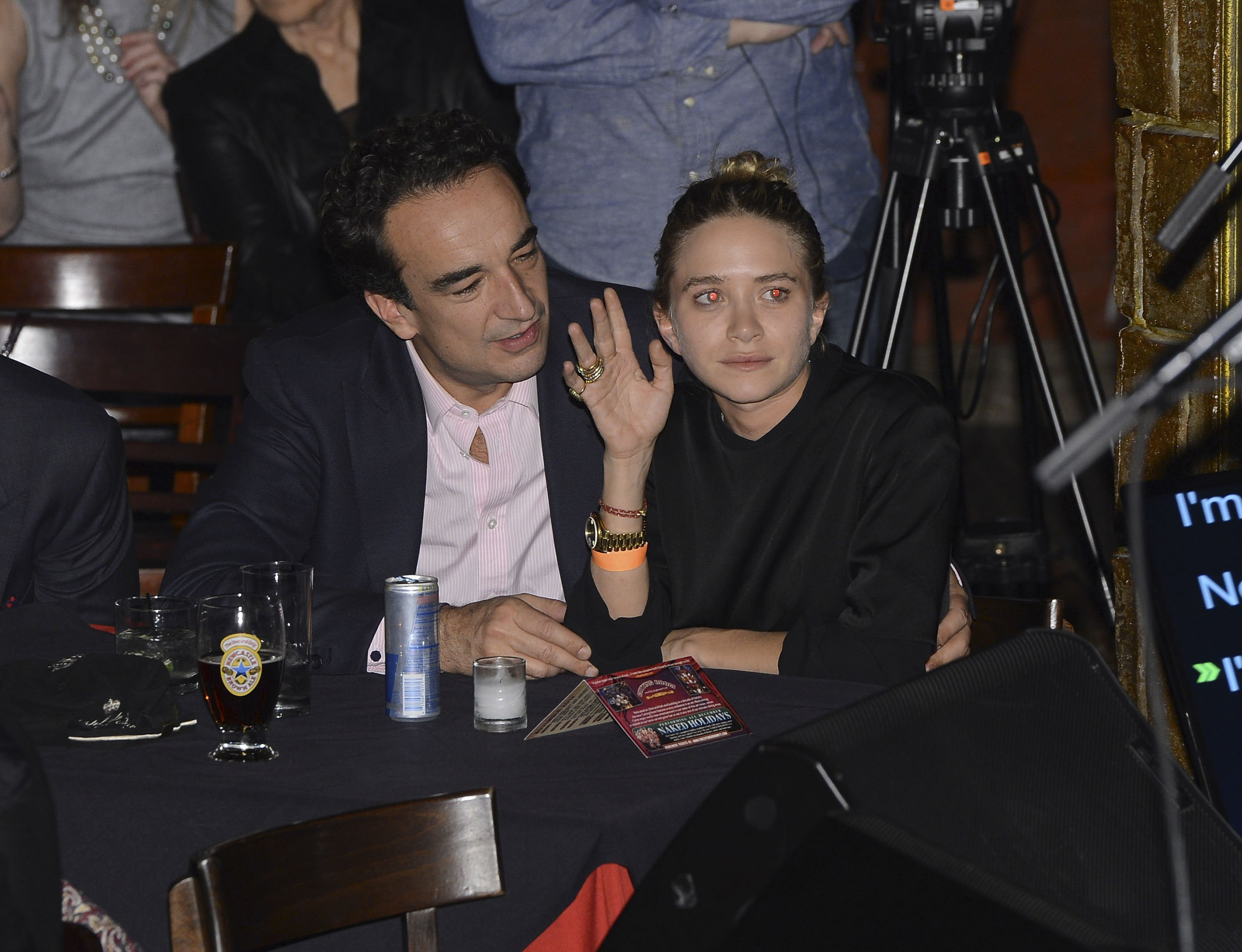 Olivier Sarkozy and Mary-Kate Olsen at The Cutting Room on November 7, 2013, in New York City. | Source: Getty Images.