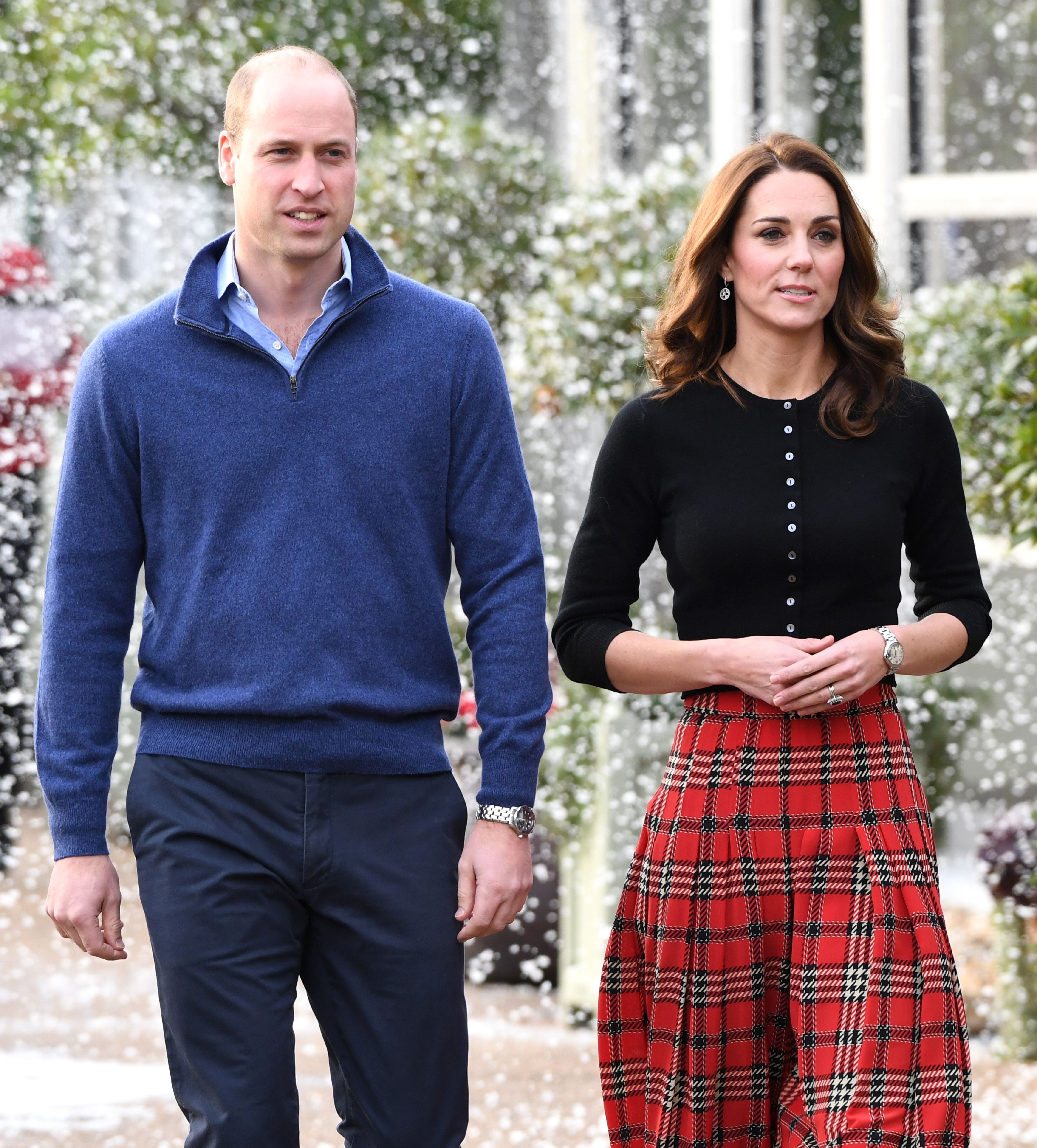 Prince William andDuchess Kate host a Christmas party to deliver a message of support to deployed personnel serving in Cyprus at Kensington Palace on December 4, 2018, in London, England | Photo:Stuart C. Wilson/Getty Images