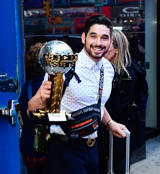 Alan Bersten is seen arriving at 'Good Morning America' show in Times Square on November 26, 2019 in New York City | Photo: Getty Images