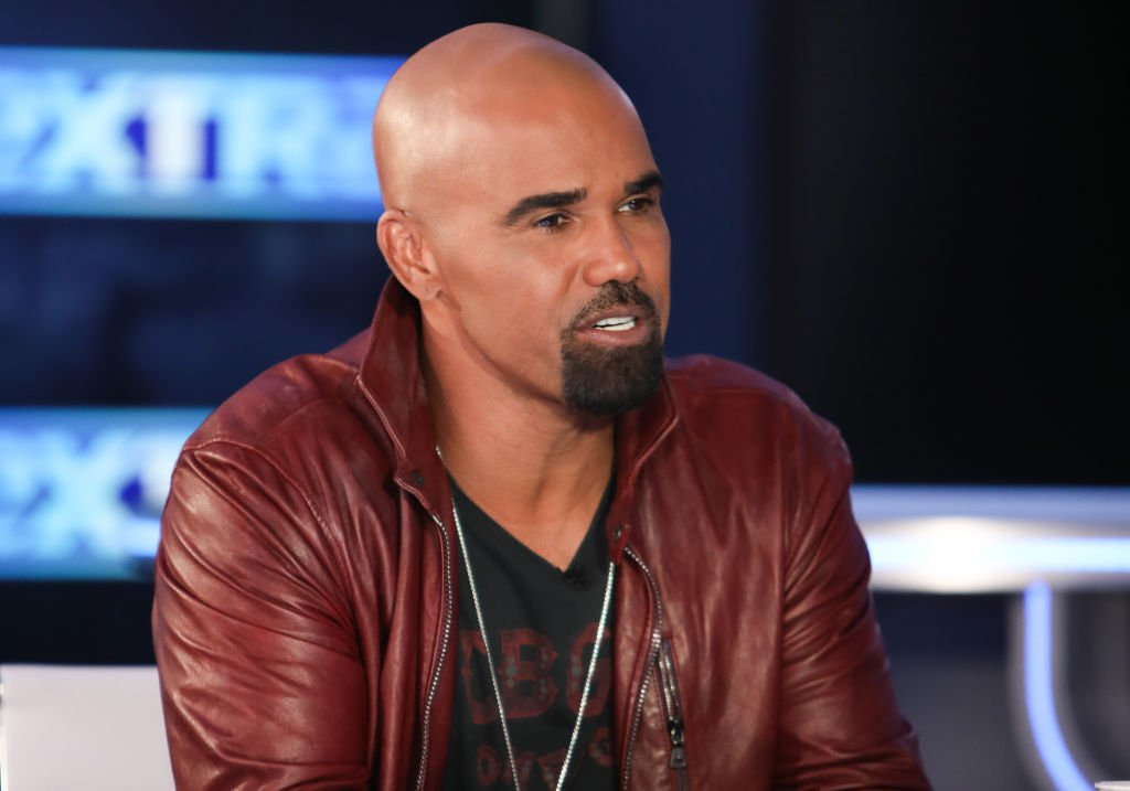 "Actor Shemar Moore visits ""Extra"" at Burbank Studios 