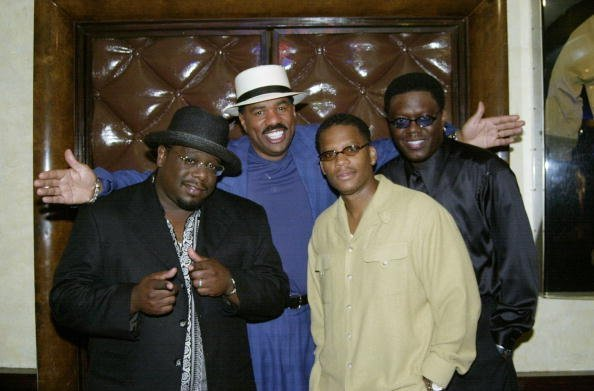 "Cedric the Entertainer, Steve Harvey, D.L. Hughley and Bernie Mack, stars of the movie ""The Original Kings Of Comedy,"" get together at Planet Hollywood. 