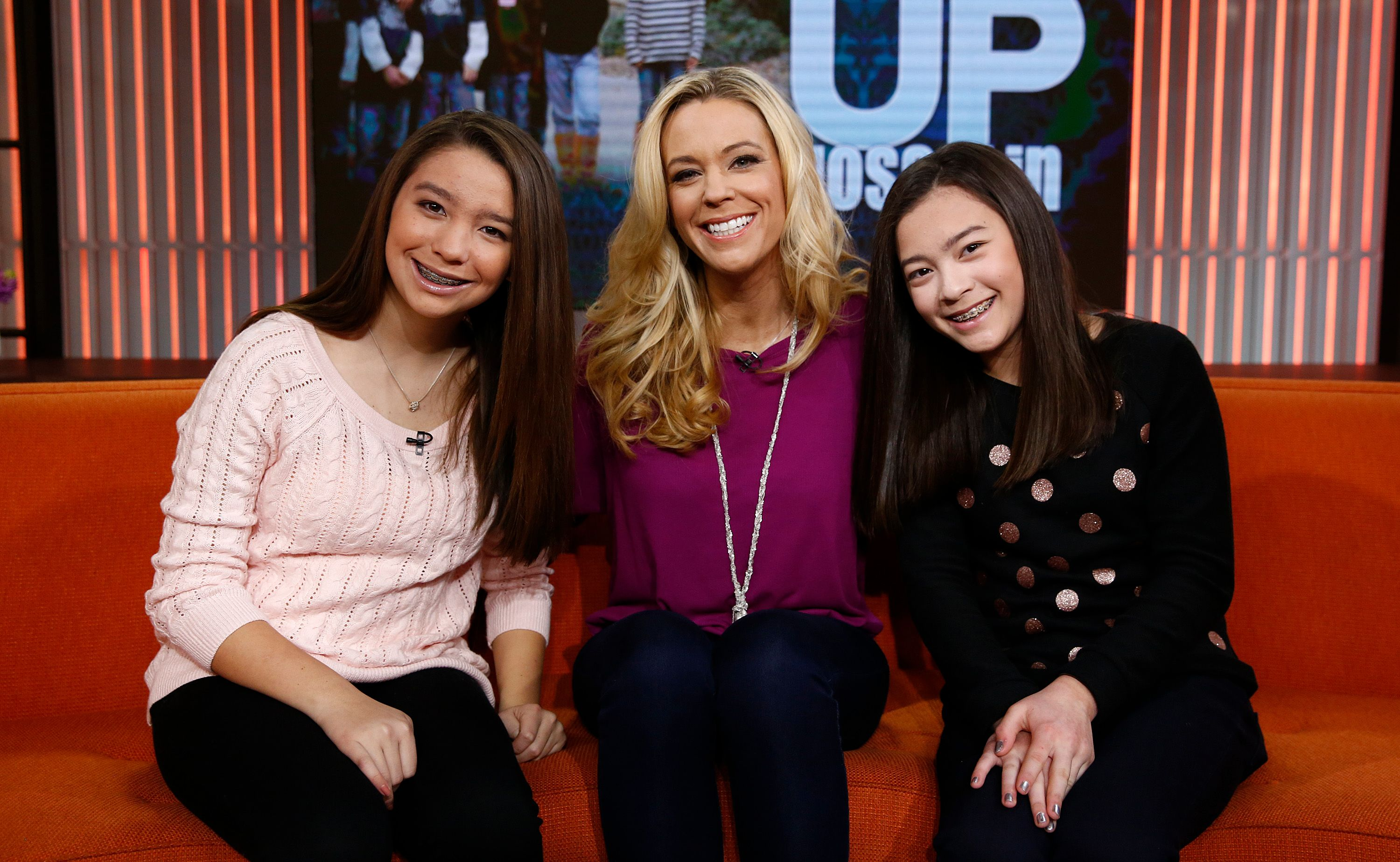 """Cara, Kate,and Mady Gosselin appear on season63of the """"Today"""" show on January 16, 2014 