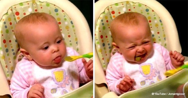 Baby had peas for the first time and her reaction went viral (video)
