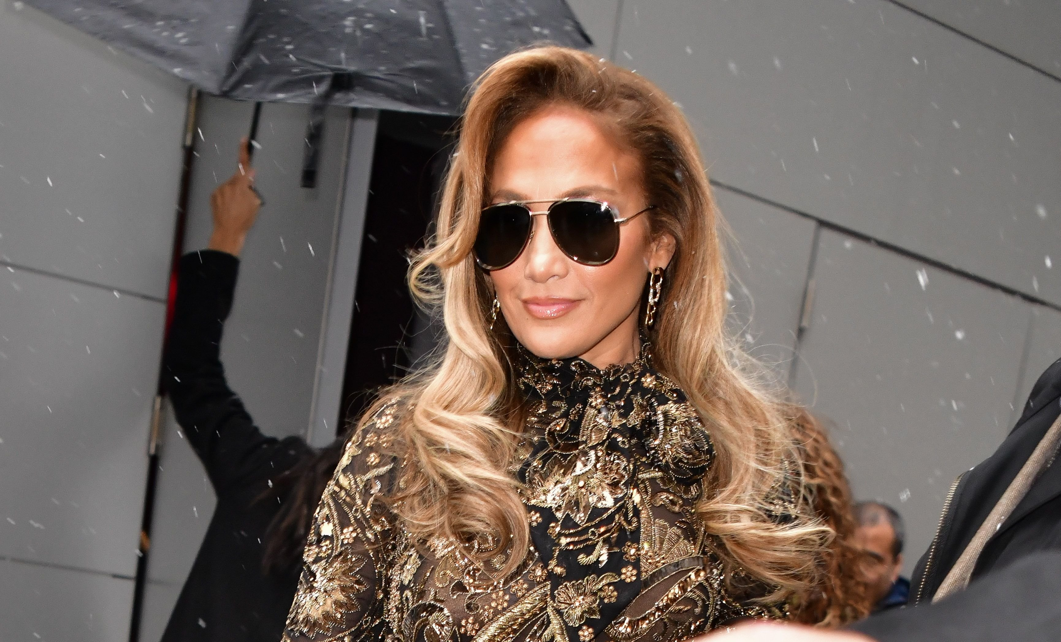 Jennifer Lopez at The SAG-AFTRA Foundation Robin Williams Center in December 2019 in New York   Source: Getty Images