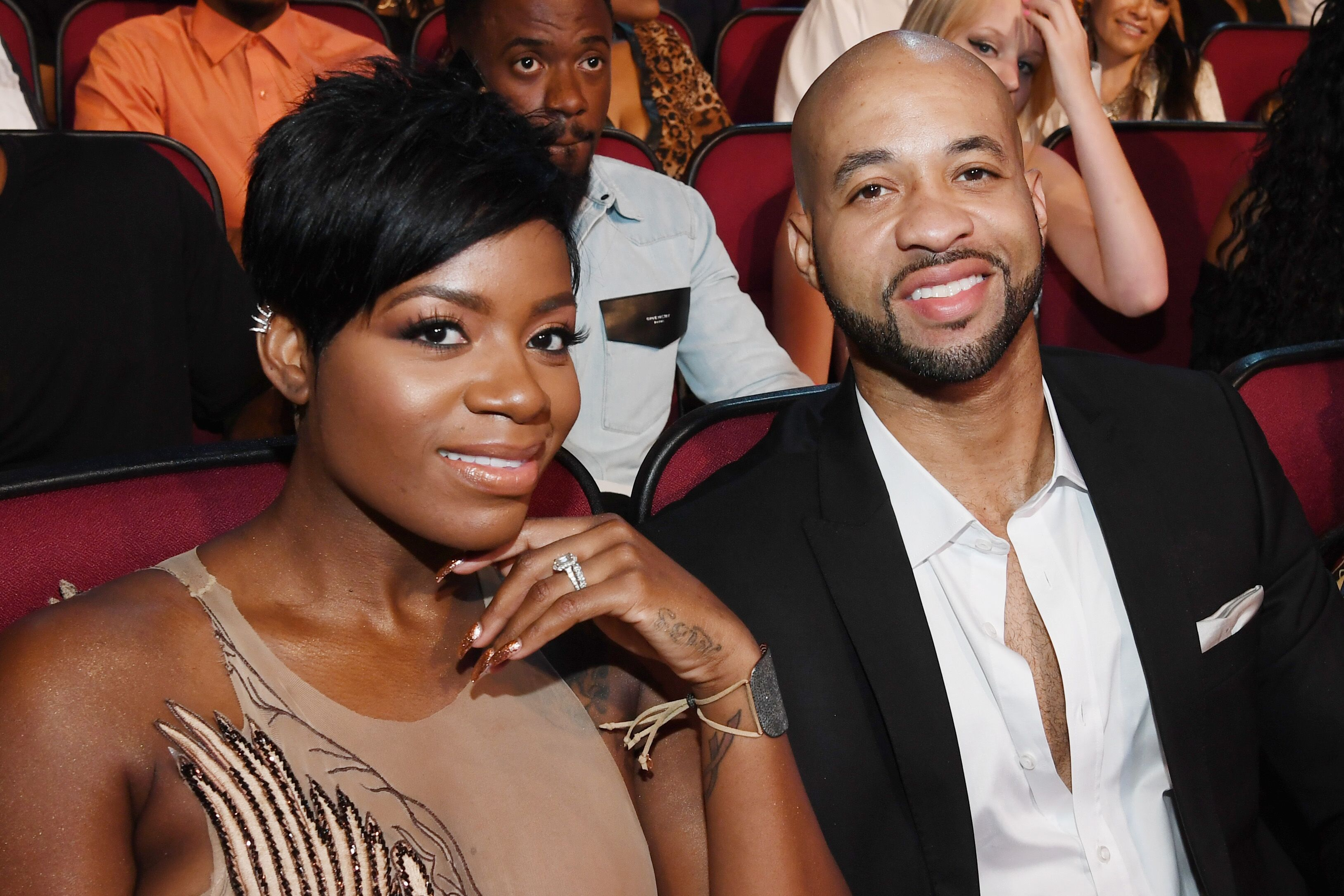 Fantasia Barrino & her husband Kendall Taylor at the BET Awards in 2016 in California   Source: Getty Images