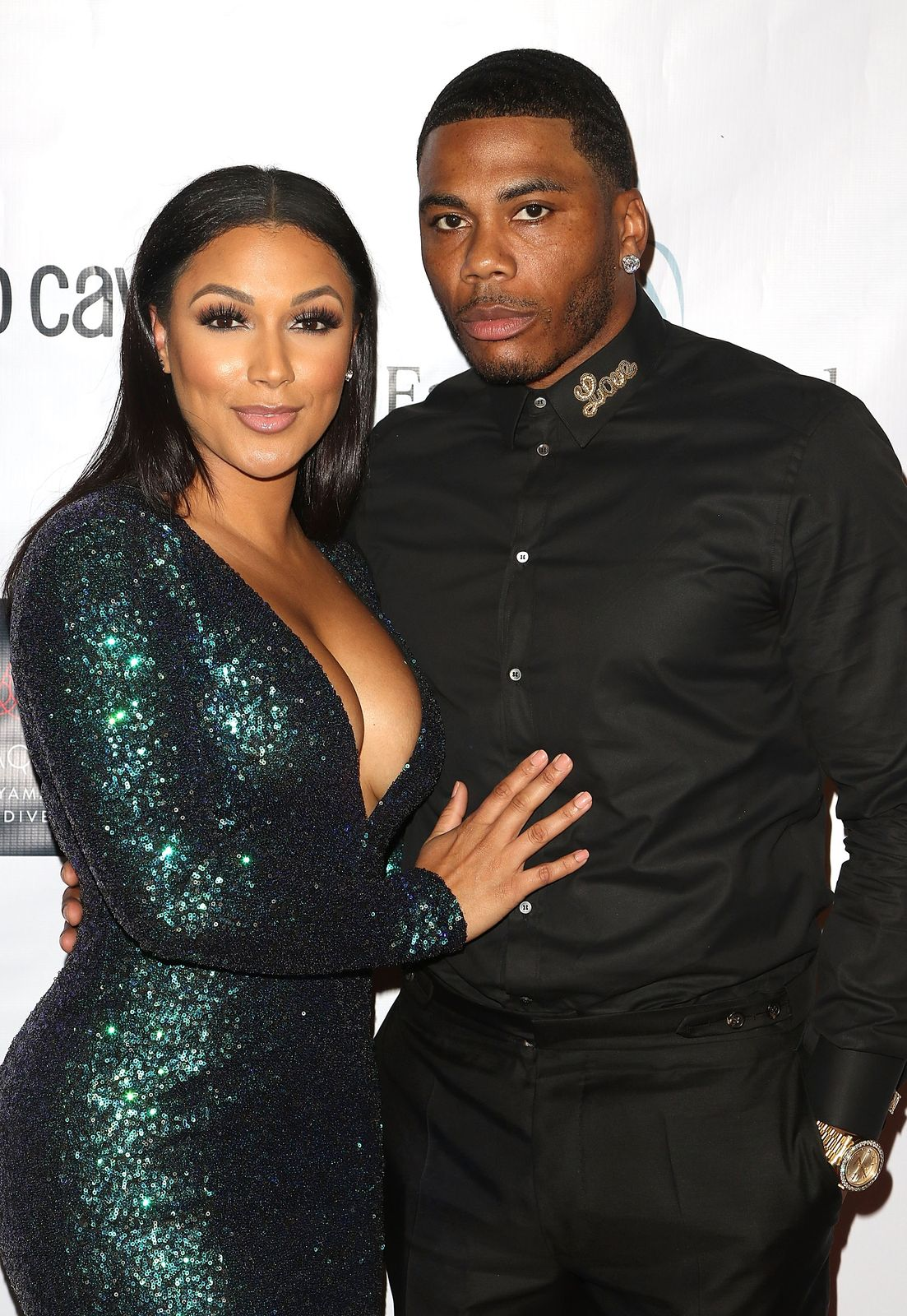 Shantel Jackson and Nelly at the Face Foward Gala in Los Angeles, California. September 24, 2016. | Photo: Getty Images.