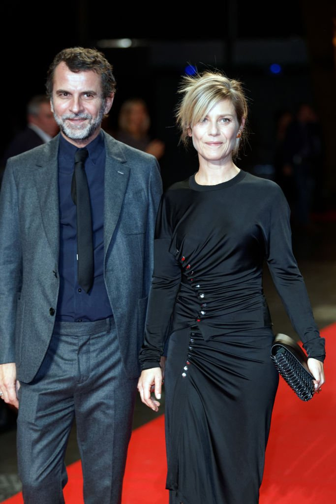 Éric Lartigau and Marina Foïs au Festival des Lumières à Lyon, octobre 2017. Photo : Getty Images