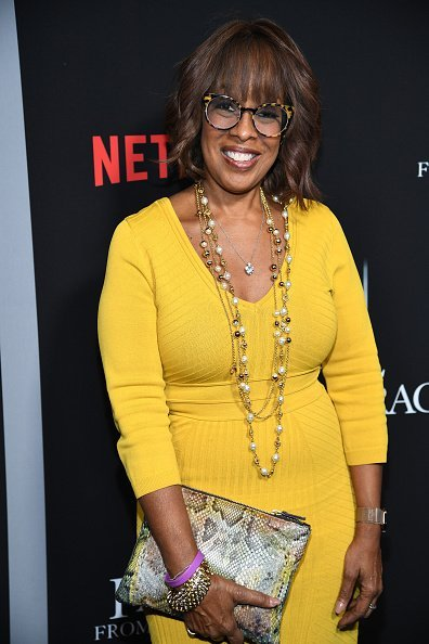 """Gayle King at the premiere of Tyler Perry's """"A Fall From Grace"""" at Metrograph on January 13, 2020 in New York City