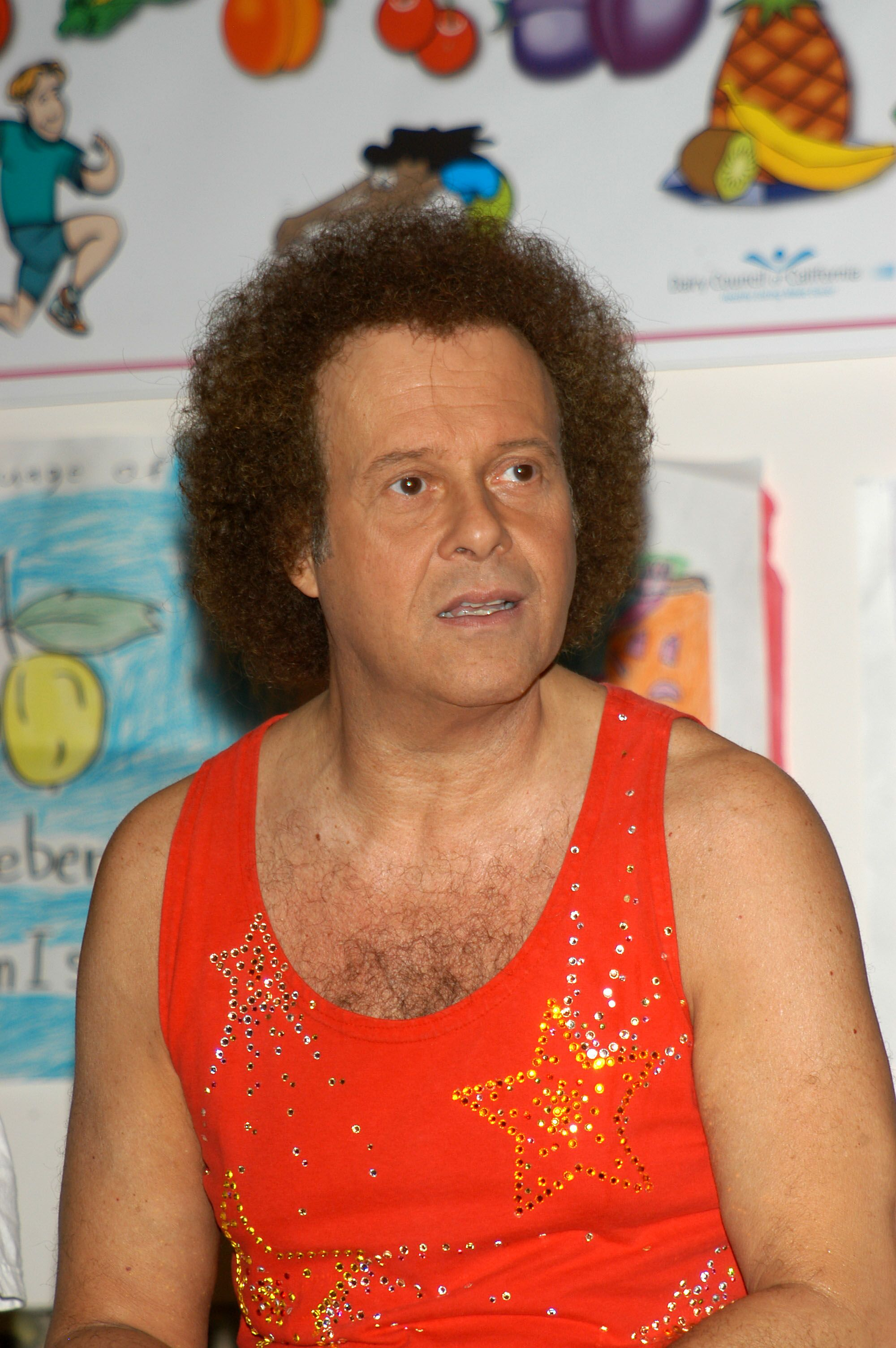 Richard Simmons speaks to students about exercise and nutrition at the Third Annual Nutrition Advisory Council Symposium. | Source: Getty Images