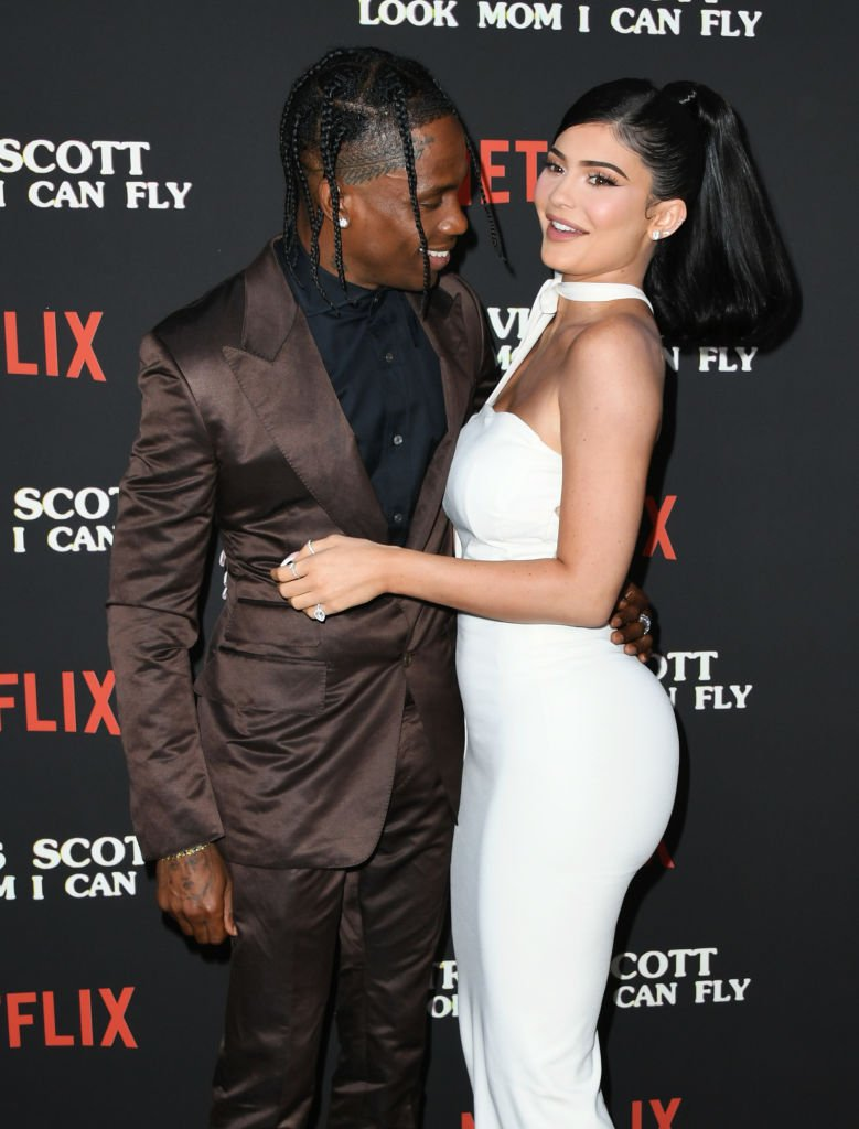 "Travis Scott and Kylie Jenner attend the premiere Of Netflix's ""Travis Scott: Look Mom I Can Fly""