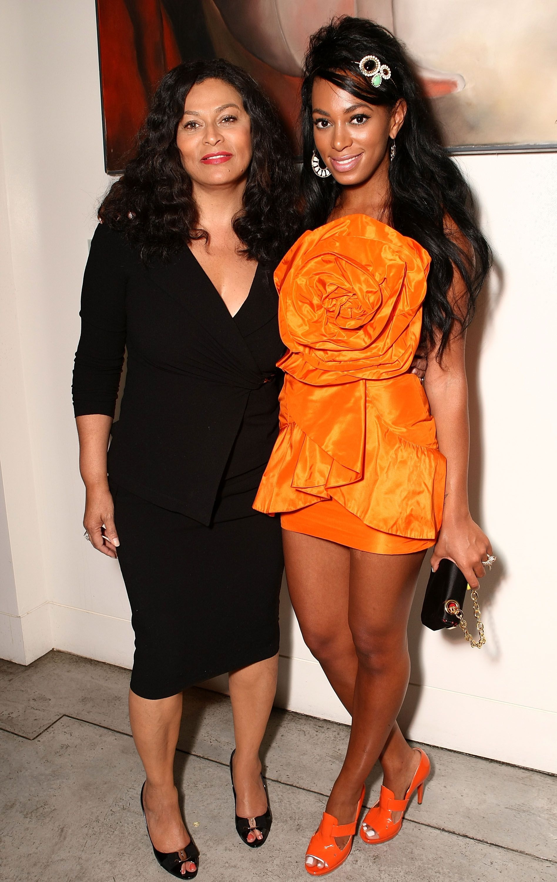 Tina and Solange Knowles at Solange's birthday party held at a private residence on June 23, 2008, in Los Angeles, California | Photo: Alberto E. Rodriguez/Getty Images