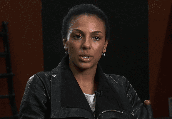 """Marsha Thomason during an interview for the game, """"Hitman: Absolution,"""" on February 20, 2012. 