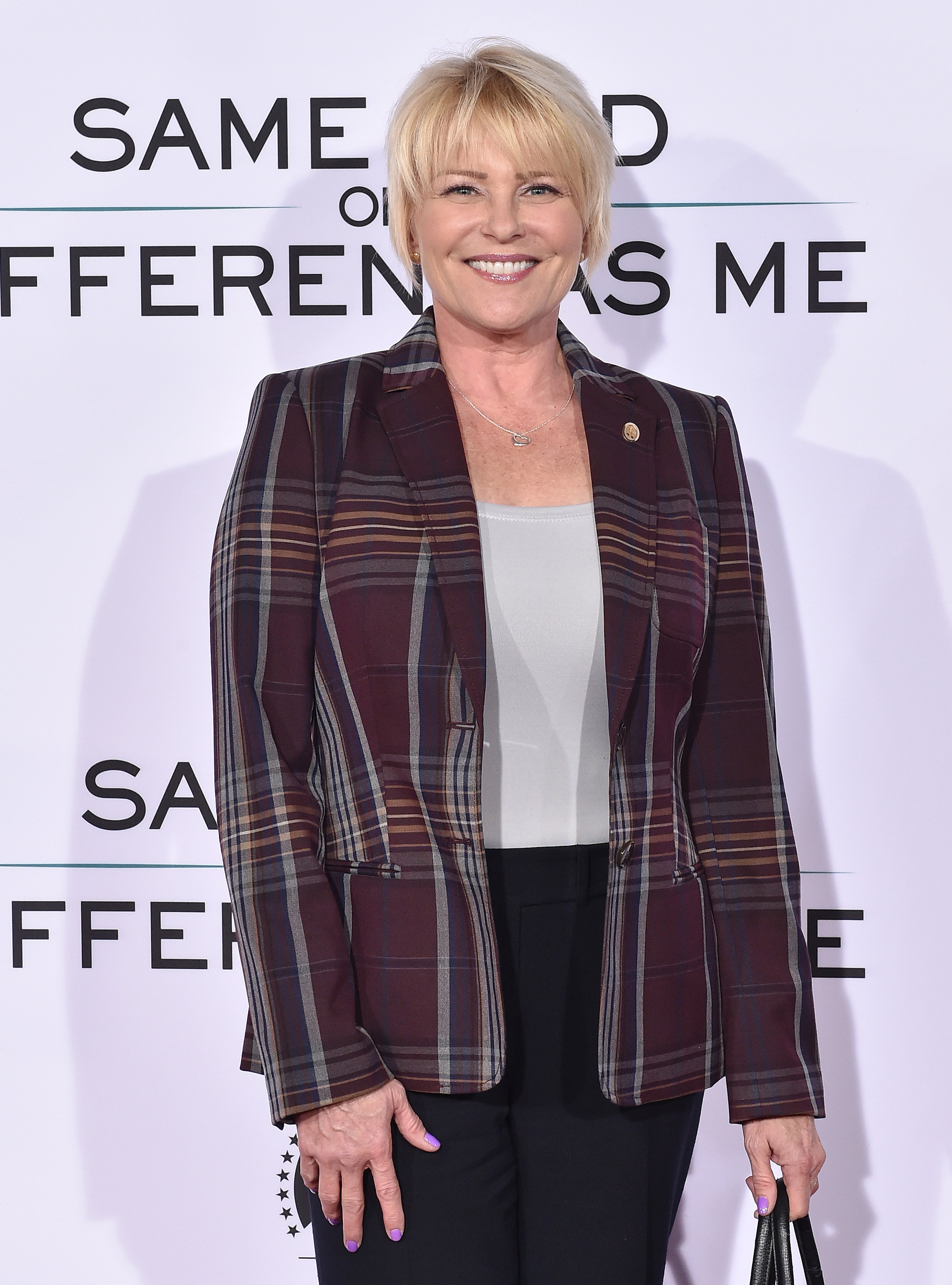 """Judi Evans arrives at the premiere of """"Same Kind of Different as Me"""" on October 12, 2017, in Westwood, California. 