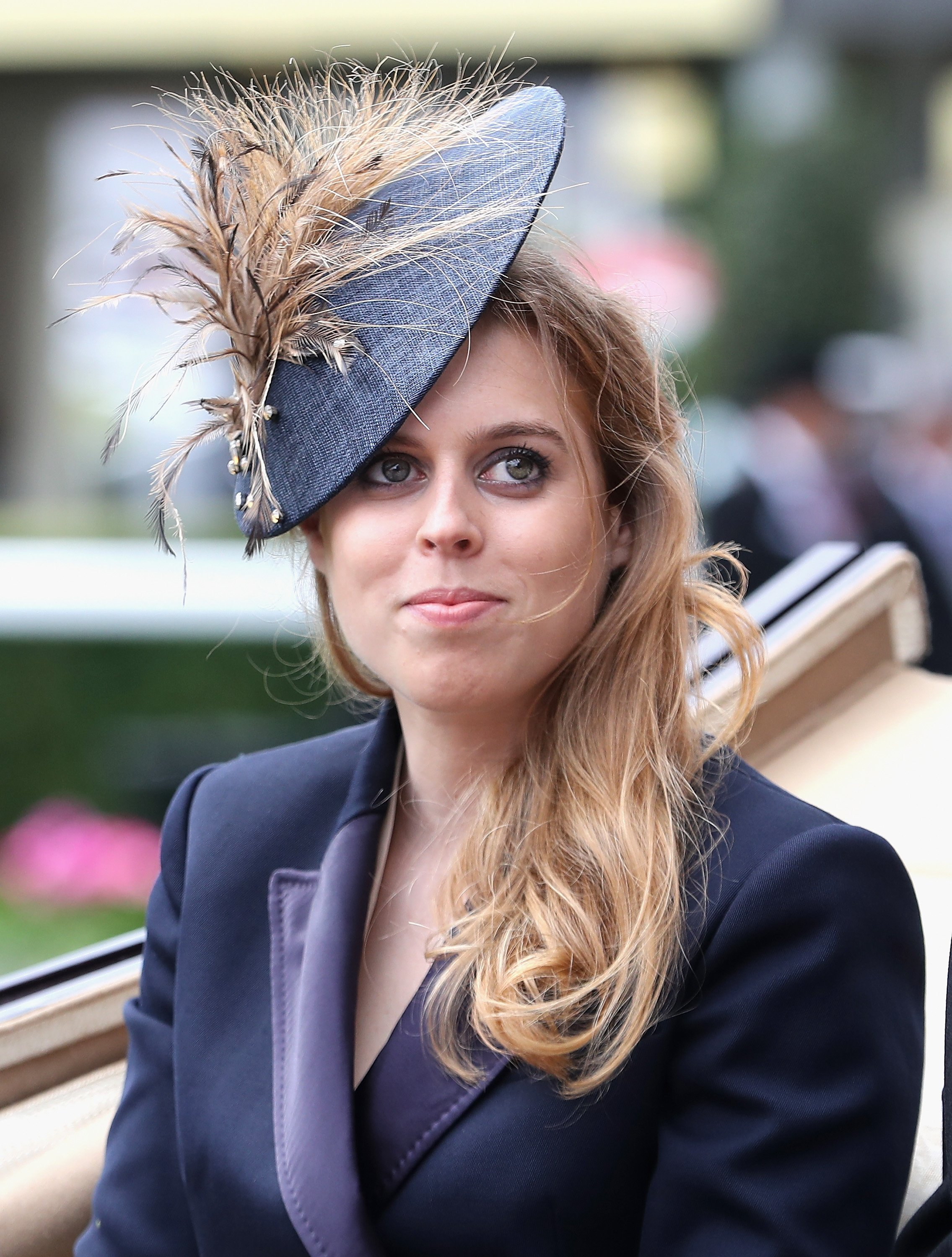 Princess Beatrice arrives in the parade ring at Royal Ascot 2016 at Ascot Racecourse on June 14, 2016.  Photo\: Getty Images