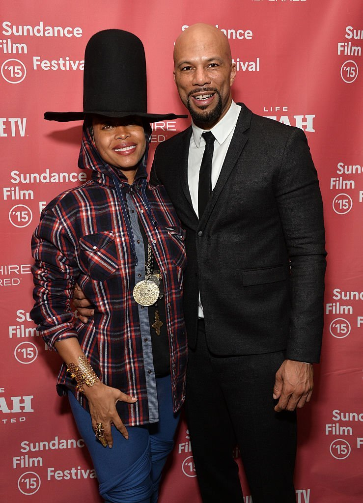 Erykah Badu and Common photographed backstage at the Celebration of Music in Film event during the 2015 Sundance Film Festival in Utah. | Photo: Getty Images