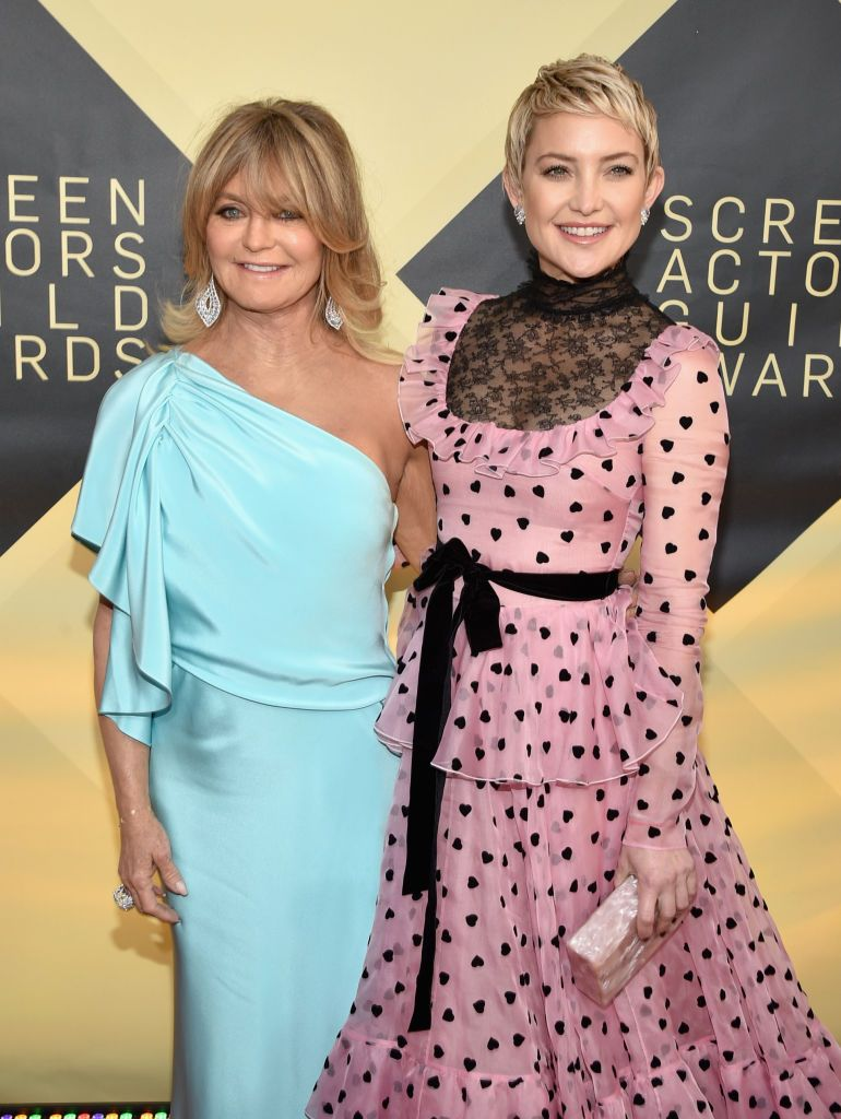Goldie Hawn and Kate Hudson at the 24th Annual Screen Actors Guild Awards at The Shrine Auditorium on January 21, 2018 | Photo: Getty Images