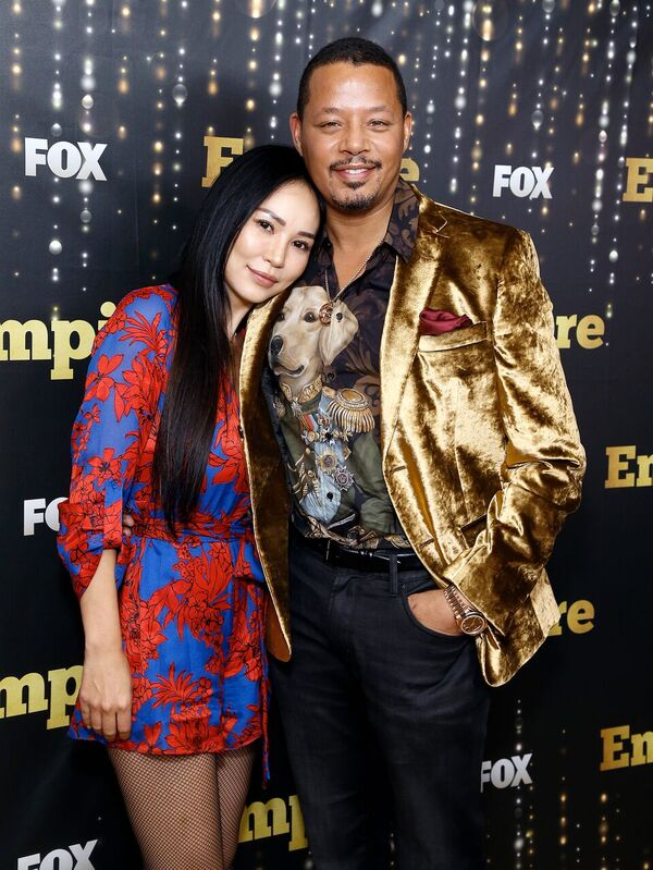 "Terrence Howard and ex-wife Miranda Pak at an ""Empire"" event 