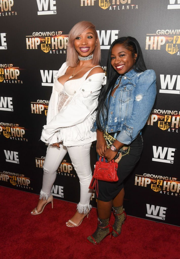 "Zonnique Pullins and Reginae Carter at the ""Growing Up Hip Hop Atlanta"" premiere in May 2017.  